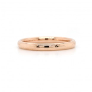 Rose Gold Domed Band 2.5mm