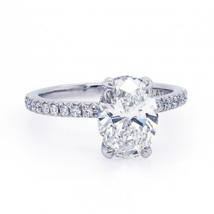 Oval Diamond Delicate Engagement Ring