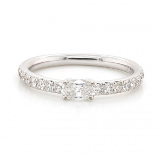 Oval and Round Diamond Band