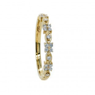 Floral Marquise Shaped Diamond Band