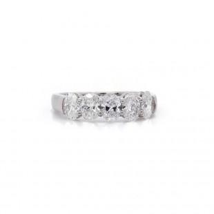 Five Oval Diamond Band 1.54ct twt