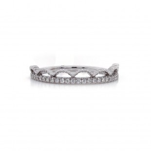 White Gold Diamond Tiara Ring