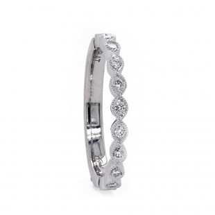 Marquise Shaped Delicate Platinum Band
