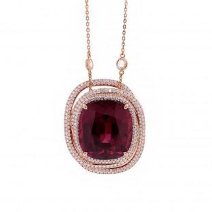 Umbalite Garnet Pendant in Rose Gold
