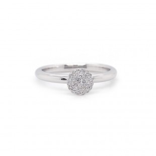 Pave Circle Diamond Ring