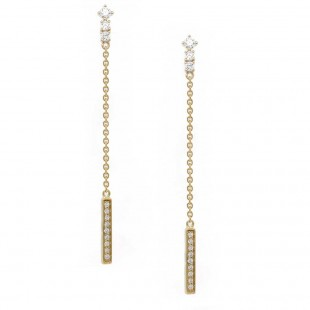 Yellow Gold Diamond Swing Earrings