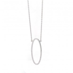 Open Oval Diamond Pendant