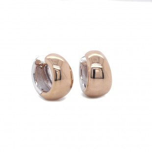 "Two Tone Reversible ""Huggie"" Earring"