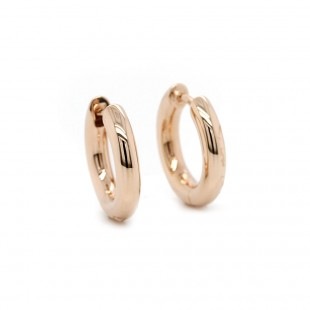 Rose Gold Hoop Earrings 15mm