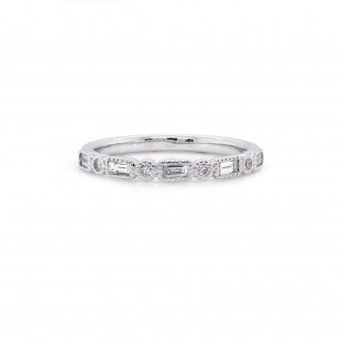 Diamond Milgrain Ring