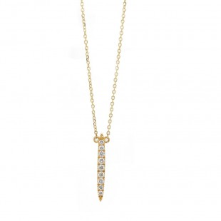 Diamond Pave Drop Bar Pendant