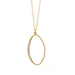 Marika Open Marquise Diamond Pendant