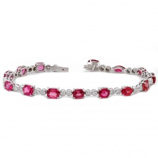 Ombre Spinel and Diamond Bracelet