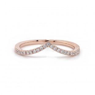 V Style Diamond Wedding Band