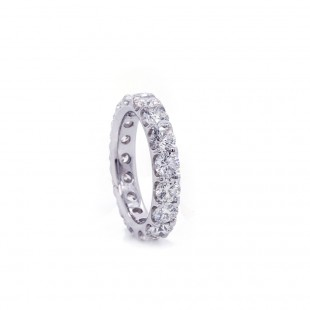 Platinum Diamond Shared Prong Eternity Band 3.97ct twt
