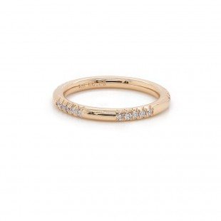 Rose Gold Pave Diamond Sections Ring