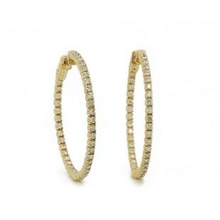 Inside Out Diamond Hoop Earrings 35mm
