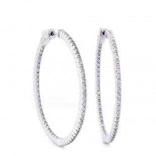 Inside Out Diamond Hoop Earrings 41mm