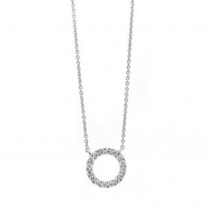 Diamond Pave Circle Pendant