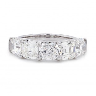 Alternating Cushion and Radiant Diamond Band
