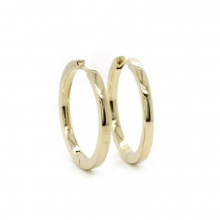 Yellow Gold Hoop Earrings 24mm