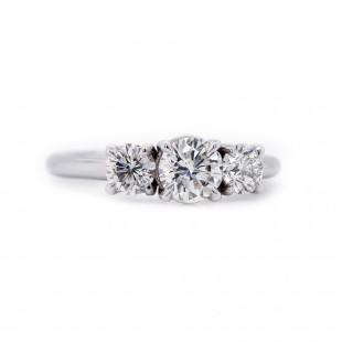 Three Stone Diamond Ring 1.10 t.c.w.
