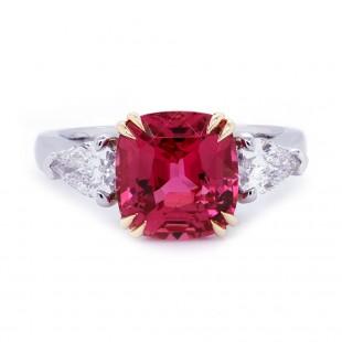 Mehenge Pink-Red Spinel Custom Ring
