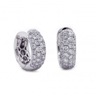 Diamond Hoop Earrings 0.85 ct twt