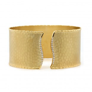 Marika Hammered Diamond Cuff Bracelet