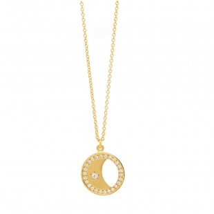 Marika Moon and Star Diamond Pendant