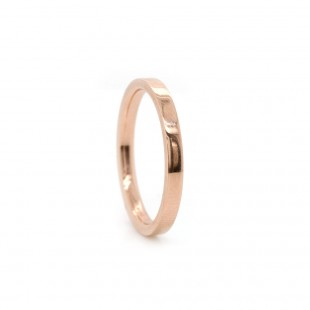 Rose Gold Flat Band 2mm