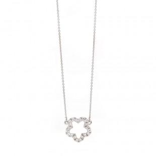 Open Flower Diamond Pave Pendant