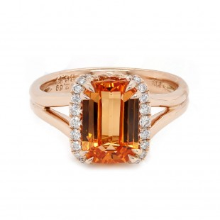 Spessartite Garnet Rose Gold Ring