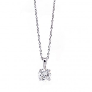 Diamond Solitaire Pendant 0.85ct