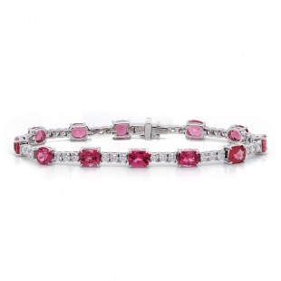 Pink Spinel and Diamond Bracelet