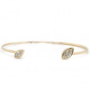 Marquise Diamond Cuff Bracelet