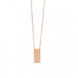 Rose Gold Rectangular Bar Pendant