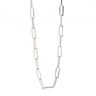 """""""Paperclip"""" Open Link Necklace 18"""""""
