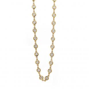 Diamond by the Yard style Necklace 18""