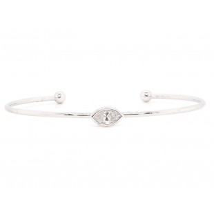 Bezel Set Diamond Cuff Bracelet