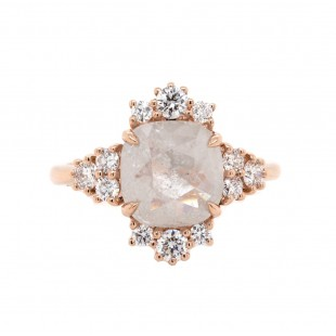 Rose Cut Rustic Diamond Ring