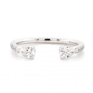 Pear Shape Open Top Diamond Ring