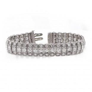 Estate Diamond European Cut Bracelet