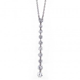 Pierced Diamond Drop Necklace
