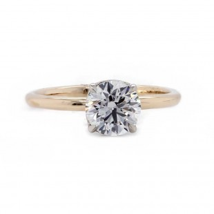 Yellow Gold Diamond Solitaire Engagement Ring