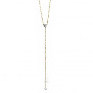 Pierced Diamond Lariat Necklace