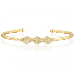 Marika Geometric Diamond Bangle Bracelet