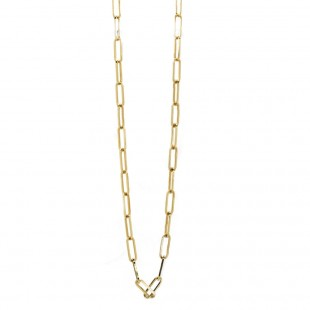 Paperclip 14KT Yellow Gold Necklace 18in