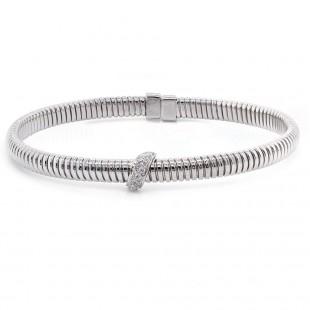 White Gold Flexible Diamond Bracelet