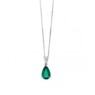 Pear Emerald Pendant